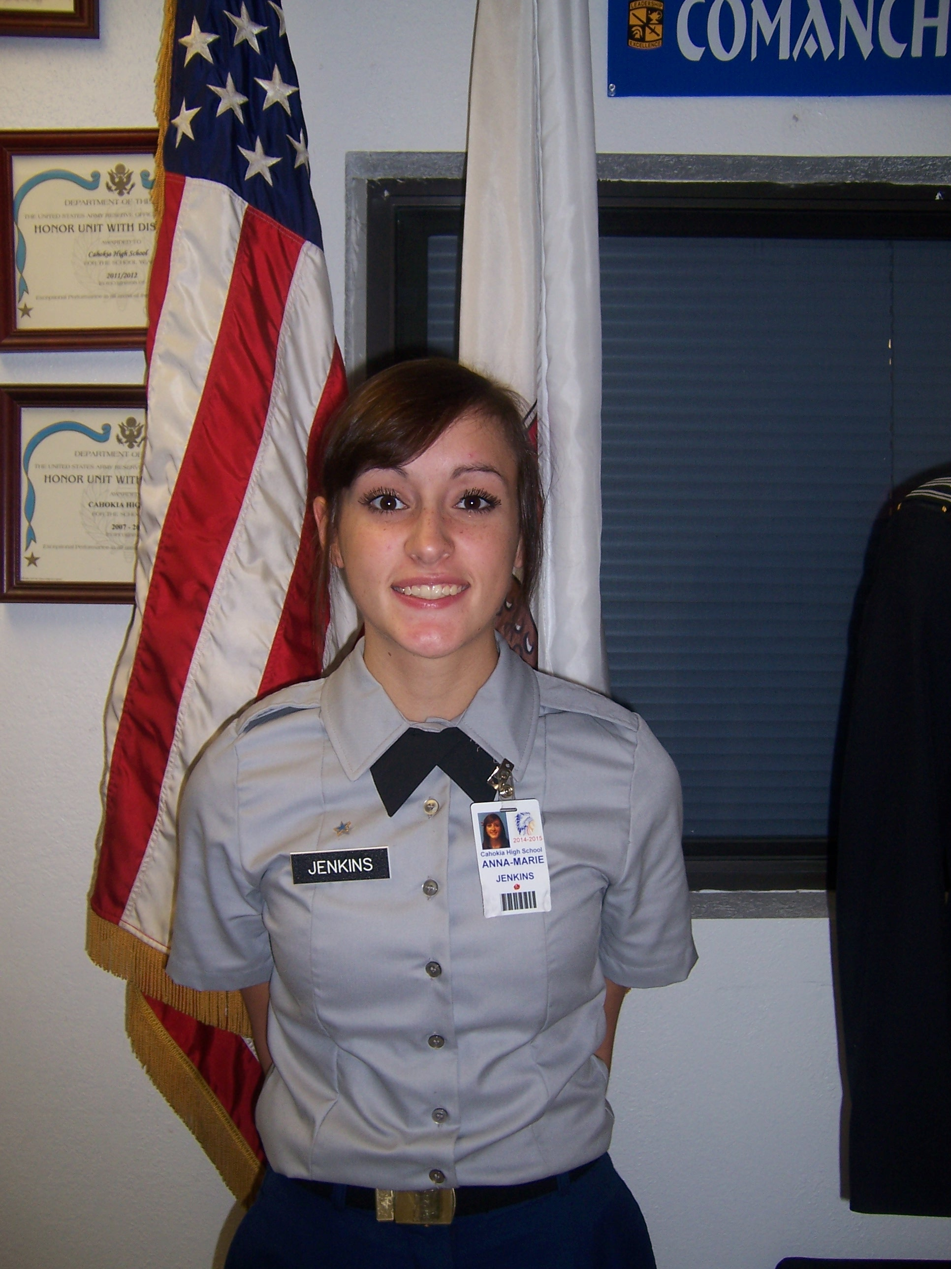 Alpha Co. Cadet Of the Month Anne-Marie jenkins