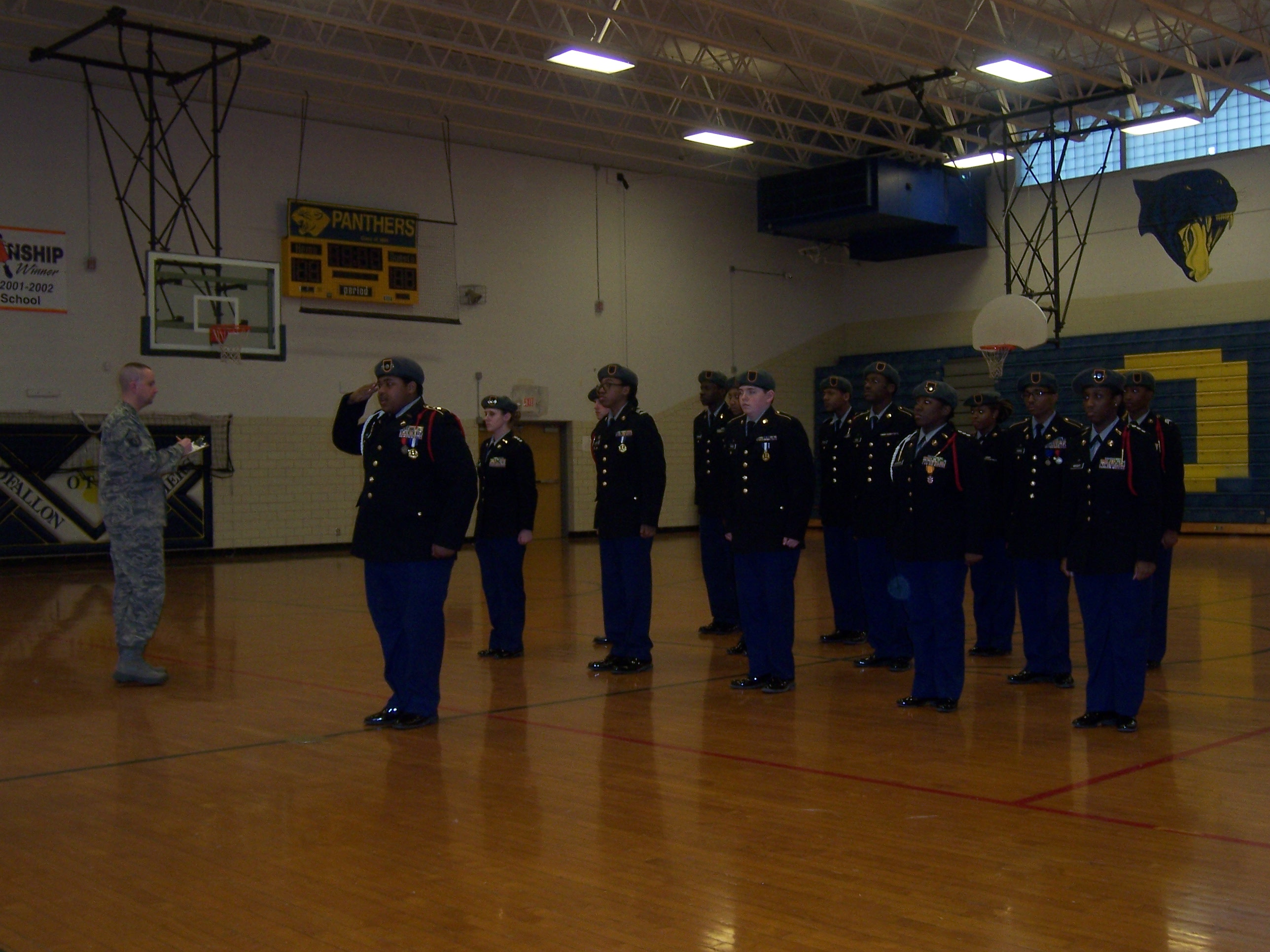 The Drill Team At They Meet