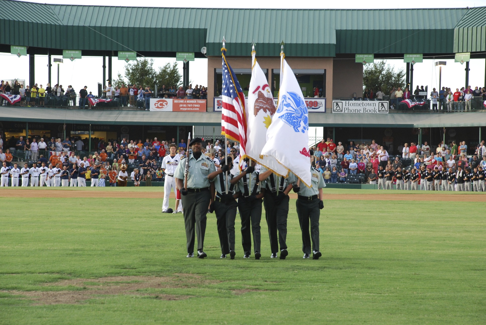 Color Guard at Gateway Grizzily Game 2011